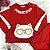 Conjunto de bebê Petit Cherie menina moletom ursinho vermelho - Imagem 5