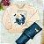 Conjunto bebê Petit Cherie blusa rosa borboleta legging jeans fake - Imagem 1