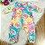 Macacão bebê Mon Sucré inverno doces donuts e cupcakes colorido Tam RN - Imagem 3