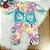 Macacão bebê Mon Sucré inverno doces donuts e cupcakes colorido Tam RN - Imagem 1