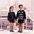 Vestido infantil Petit Cherie casual inverno moletinho preto com brilhinhos Petit lovers - Imagem 1