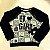 Conjunto infantil Petit Cherie blusa e calça de moletom leopardo com brilho preto e verde - Imagem 3
