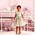 Vestido de festa infantil Petit Cherie luxo candy color póa rosa e verde - Imagem 1