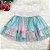 Conjunto infantil Petit Cherie inverno blusa saia tutu verde rosa - Imagem 5