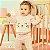 Conjunto de bebê Momi inverno blusa de moletom com gatinho pelúcia com calça rose - Imagem 1