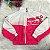 Jaqueta infantil Momi feminina corta vento bomber pink e branco - Imagem 3