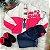 Jaqueta infantil Momi feminina corta vento bomber pink e branco - Imagem 2
