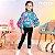 Legging infantil Momi cotton básica preta - Imagem 1