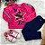 Blusa infantil Mon Sucré inverno de pelinho estrela paetês pink - Imagem 4
