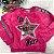 Blusa infantil Mon Sucré inverno de pelinho estrela paetês pink - Imagem 3