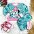 Conjunto de bebê Mon Sucré blusa calça moletom cachorrinho verde - Imagem 1