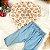 Body bebê menina Petit Cherie manga longa ursinho rosa - Imagem 1