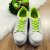 Tenis infantil feminino plataforma branco amarelo neon tamanho 29 - Imagem 2