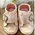Tênis de bebê infantil menina verniz coroa de perólas rosa claro Tam 17 - Imagem 2