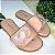 Rasteirinha infantil em couro com coração rose Tamanho 28 - Imagem 1
