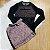 Conjunto tumblr teen top tule com saia rose preto Vanilla Cream - Imagem 1