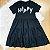 Vestido teen tumblr moletinho happy soltinho preto Vanilla Cream - Imagem 3