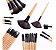 Kit 32 Pincel Maquiagem Profissional + Black Head - Imagem 5