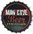 Placa Metal Cave Beer Formato Tampa Alto Relevo - Imagem 1