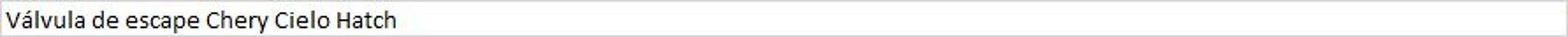 Válvula de escape Chery Cielo Hatch - Imagem 1
