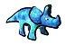 Dinossauro Azul Pelúcia com Apito Pawise - Imagem 1