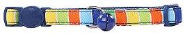 Coleira Gato Stripe Blue Pawise - Imagem 1