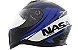 Capacete Nasa Sh-881 Valência Preto e Azul - Imagem 1