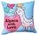 Capa de Almofada Vazia Oxford Lhama 45x45 Love - Izaltex - Imagem 1