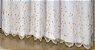 Cortina Victoria Bordada Voil Branco Com Forro 560x230 Bordado Folha Dourada - Izaltex - Imagem 2