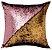 Capa de Almofada Vazia Paetê Wave 43x43 Rosê e Dourada - Rozac - Imagem 1