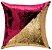 Capa de Almofada Vazia Paetê Wave 43x43 Bordô e Dourada - Rozac - Imagem 1
