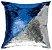 Capa de Almofada Vazia Paetê Wave 43x43 Azul Royal e Prata - Rozac - Imagem 1