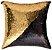 Capa de Almofada Vazia Paetê Wave 43x43 Dourada e Preta - Rozac - Imagem 1