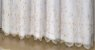 Cortina Victoria Bordada Voil Branco Com Forro 560x250 Bordado Folha Dourada - Izaltex - Imagem 2