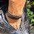 Pulseira de Couro Rock - Brown (Ajustável) - 4MEN - Imagem 2