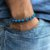 PULSEIRA MASCULINA BLUE AND SILVER - 4MEN - Imagem 1