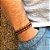 Pulseira Masculina Couro Caramelo - 4MEN (Ajustável) - Imagem 1