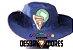 CHAPÉU AUSTRALIANO DESBRAVADOR - (Azul e Vermelho) - Imagem 2