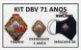 KIT DBV 71 ANOS (Trunfo, Prendedor 3 anéis e Máscara 3D) - Imagem 1