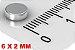 Imã De Neodímio Disco 6mm x 2mm - Imagem 2