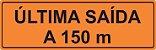 PLACA SINALIZAÇÃO DE OBRAS - 100X35 CM - Imagem 1