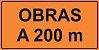OEP 202 - Placa de Sinalização de Obras em Rodovias padrão DNIT. REFLETIVA - Imagem 1