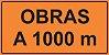 OEP 2100 - Placa de Sinalização de Obras em Rodovias padrão DNIT. REFLETIVA - Imagem 1