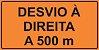 OEP 2111 - Placa de Sinalização de Obras em Rodovias padrão DNIT. REFLETIVA - Imagem 1