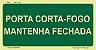 PLACA FOTOLUMINESCENTE - ROTA DE FUGA S30  - Imagem 1