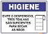 Placa Higiene PLH-004 - Imagem 1