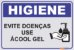Placa Use Álcool Gel - Imagem 1