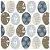 Guardanapo de Papel Decorado Estampado Ovinhos de Pascoa Luxo Pacote com 20 unidades Pattern Eggs - Imagem 1