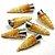 Jogo 6 Forminha Cone Aço Inox Canudinho Recheado Doce de Leite Molde Casquinha  - Imagem 1