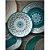 Prato de Sobremesa Tarhong em Melamina - 22 cm - Linha Marrocos - Azul e branco - Imagem 2